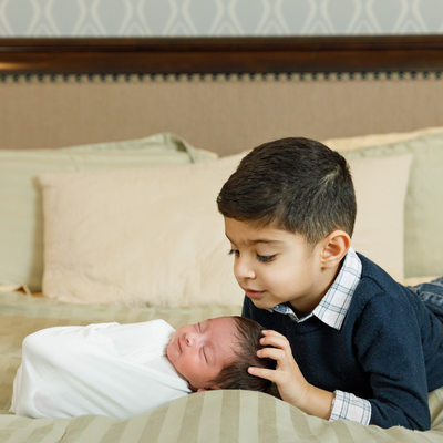 Big Brother with New Baby