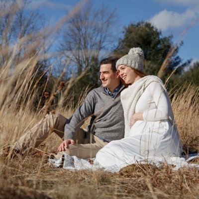 Wintery Maternity Photos in Walpole