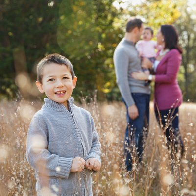 Outdoor Family Portraits Near Boston