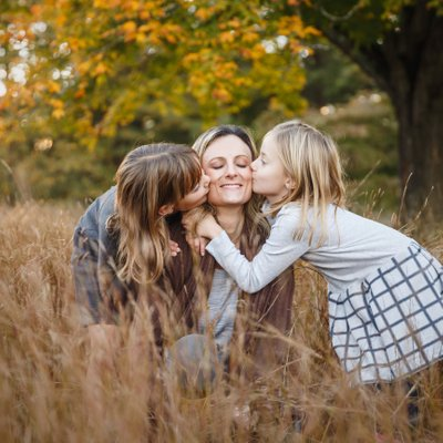 Portrait of Mom and Daughters
