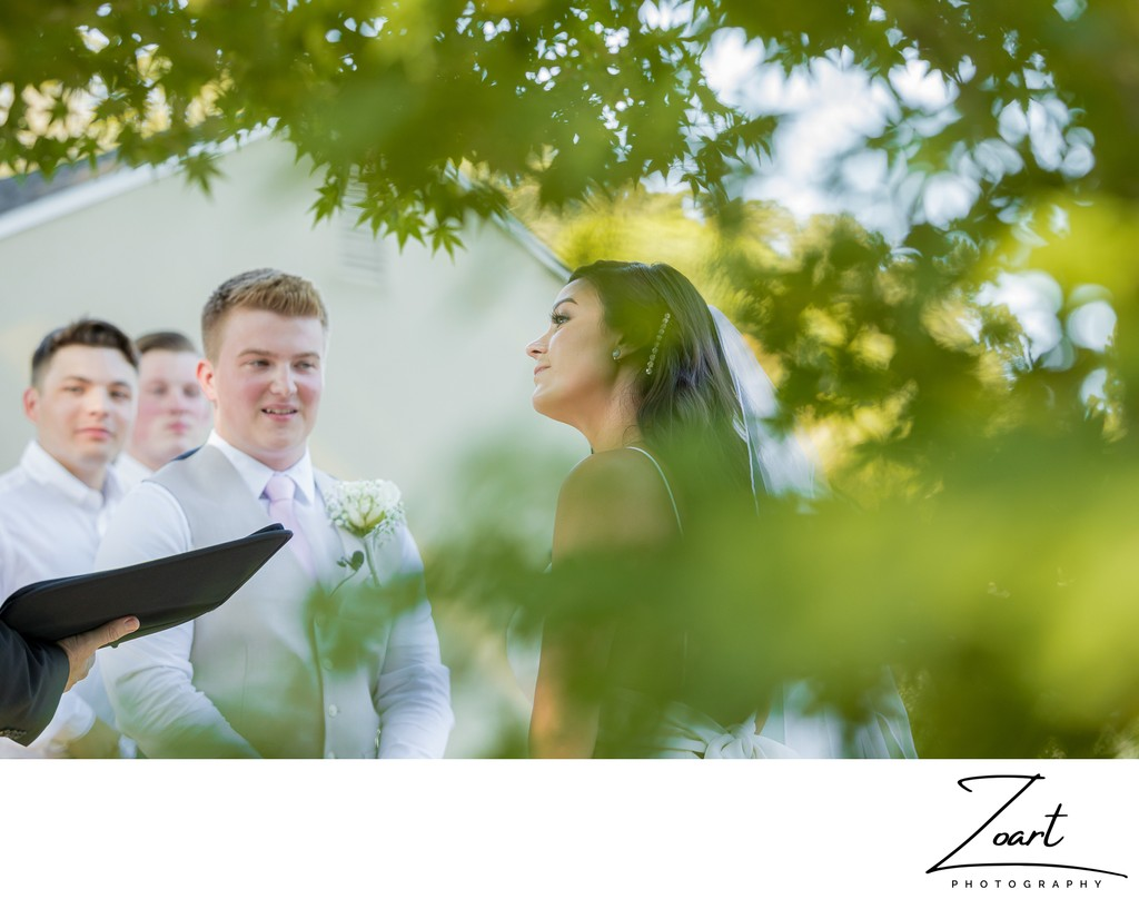 Livermore backyard wedding ceremony | Zoart Photography