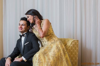 Indian Wedding Reception Couple Zoart Photography