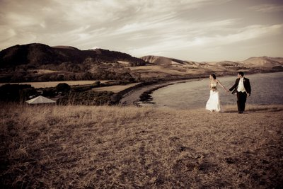 Hill Top Wedding Couple