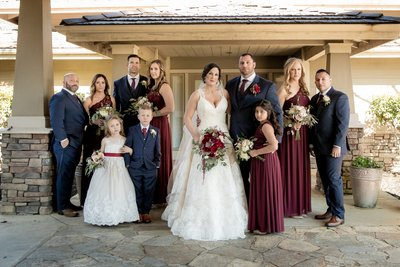 Catta Verdera Country Club wedding party pictures