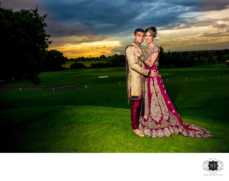 Sunset Wedding Photographer Indian Wedding Photographer London