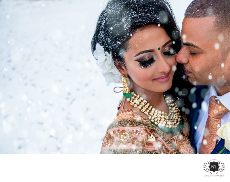 Grand Sapphire Luxury Wedding Snow portrait by Asian Wedding Nik Thakar Photographer