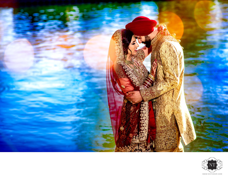 Sikh wedding portrait Asian wedding photographer