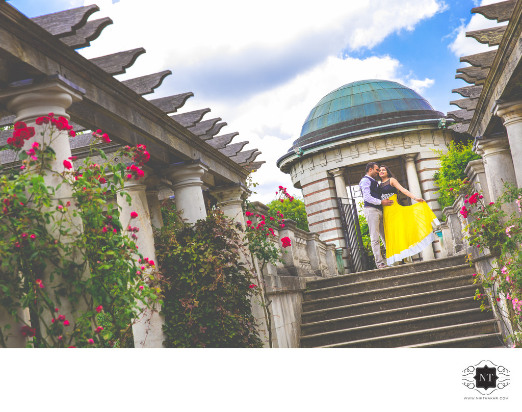 Pergola and Hill Garden Pre Wedding Photographer
