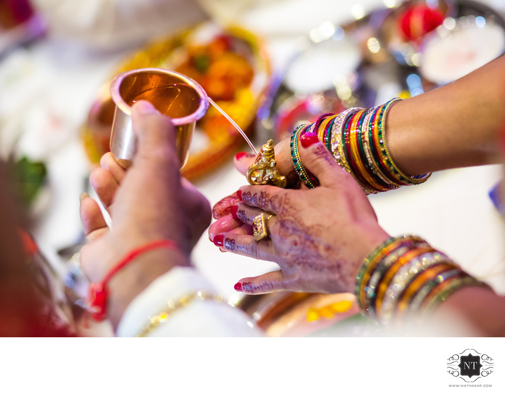 Detailed shot of indian wedding ceremony