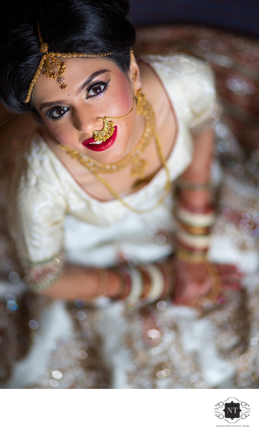 Bride getting ready asian wedding photographer