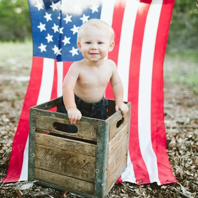 Americana Styled Children Session in Dripping Springs