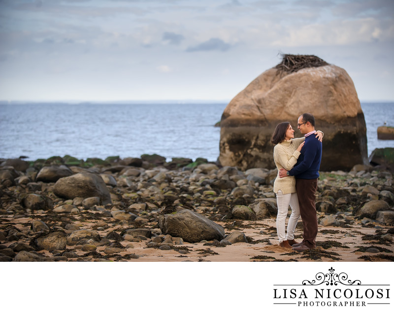 Long Island Engagement Photo in Lloyd Harbor