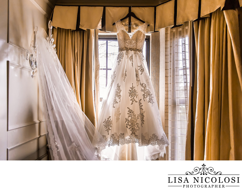 Bridal Gown Hanging at Fox Hollow Inn