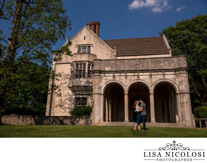 Planting Fields Engagement Photo at Coe Hall