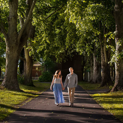 East End Wedding Photography - Outdoor Engagement Photo