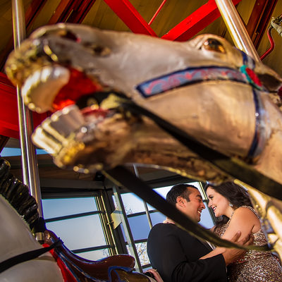Greenport Carousel Engagement Photography