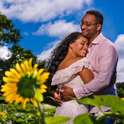 North Fork Engagement Session - Sunflower Field