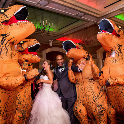 Wedding T-Rex Surprise at The Larkfield East Northport