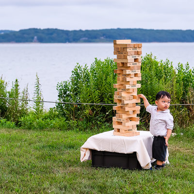 Wedding Jenga at The Old Field Vineyards in Southold