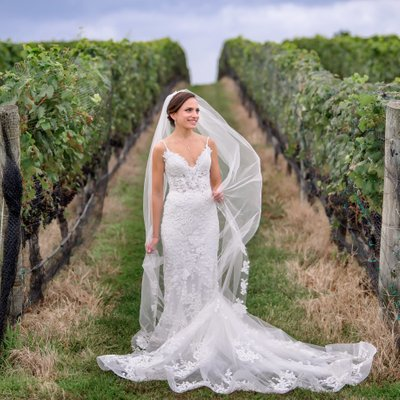 North Fork Vineyard Wedding at Pellegrini Vineyards
