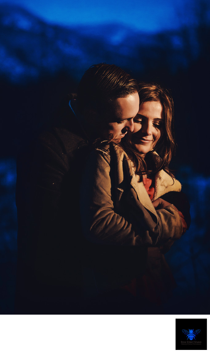 Winter Engagement Session Lake Tahoe