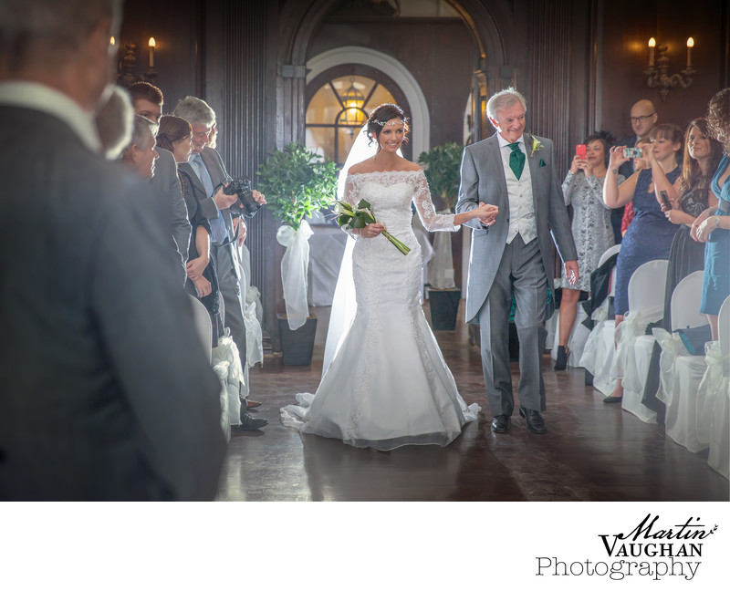 Iconic Aisle wedding photography Portmeirion