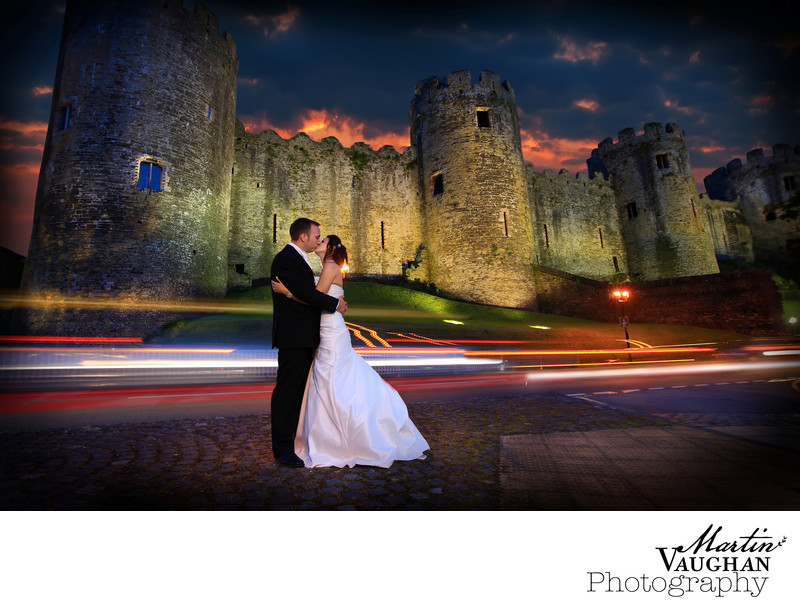 Conwy Castle photography light trails North Wales