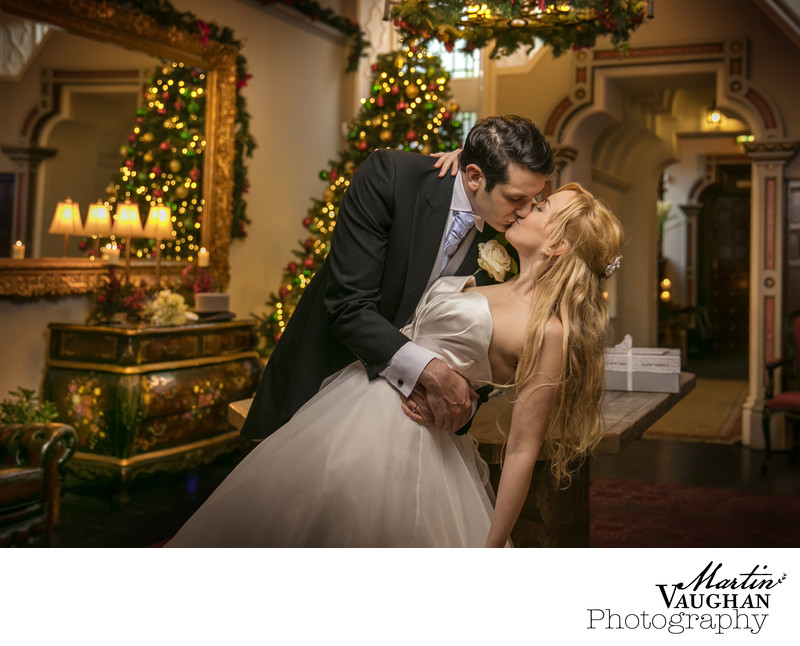 Best christmas wedding photos Chateau Rhianfa