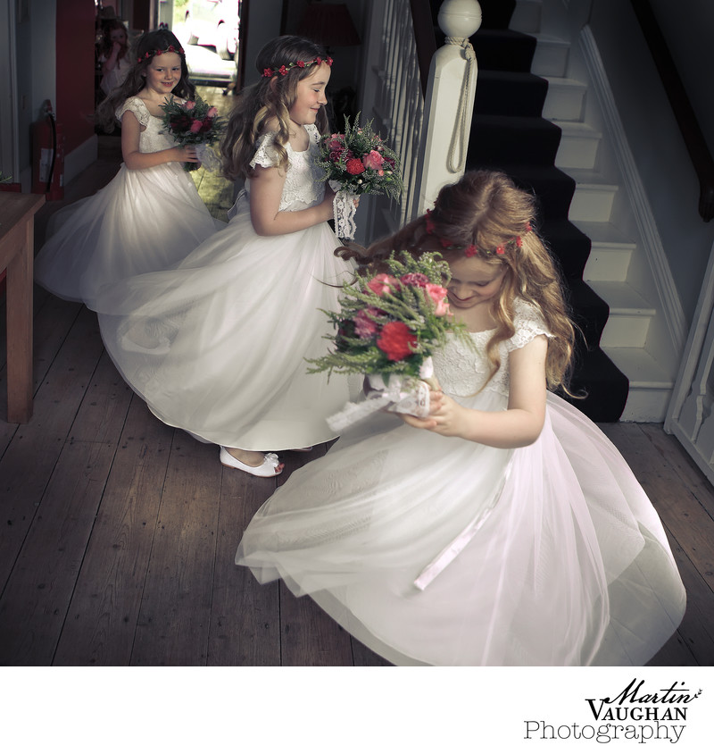 Best bridesmaids photography at weddings Portmeirion