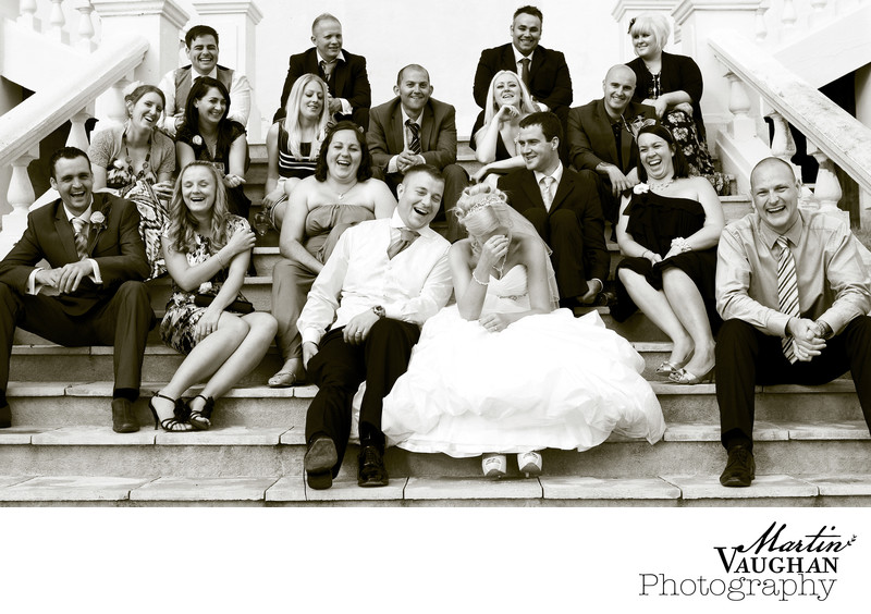 Fun Wedding photography at plas Maenan Conwy