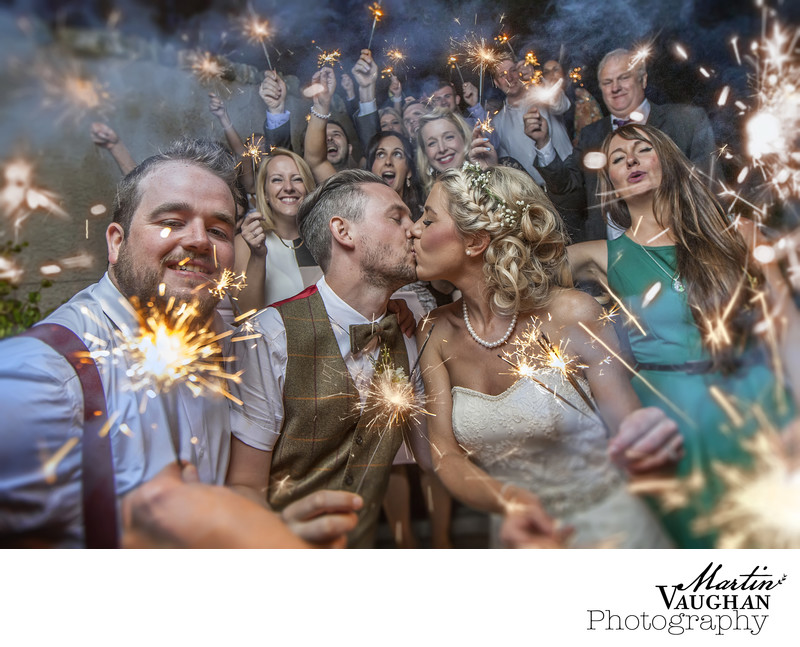 Bodnant welsh food wedding photography sparklers