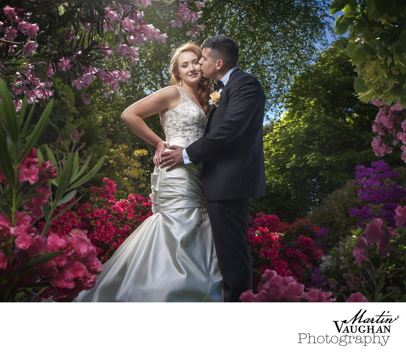 Caer Rhun Hall grounds wedding photography Conwy