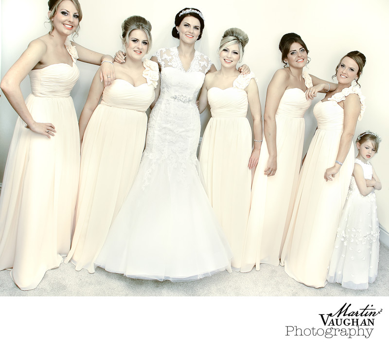 Bridesmaids iconic shot by Martin Vaughan