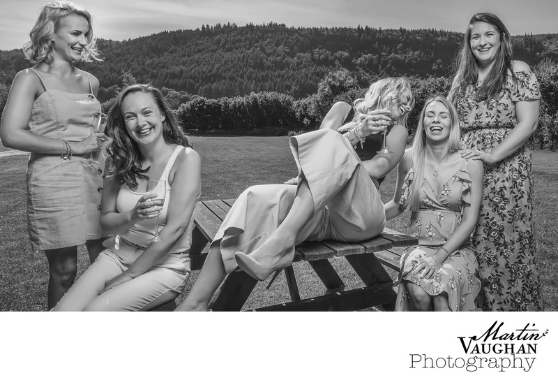 Best North Wales wedding photographer for bridesmaids reveal