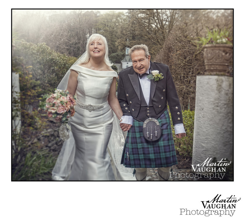 Portmeirion wedding photographer for Cherylyn and Brian