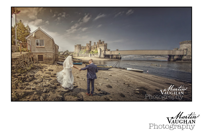 Conwy castle wedding photography by Martin Vaughan
