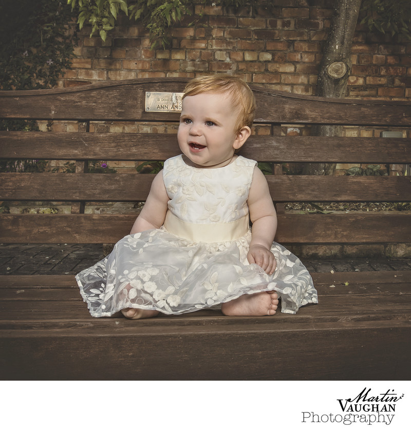 Christening photograph of Ellie in Colwyn Bay