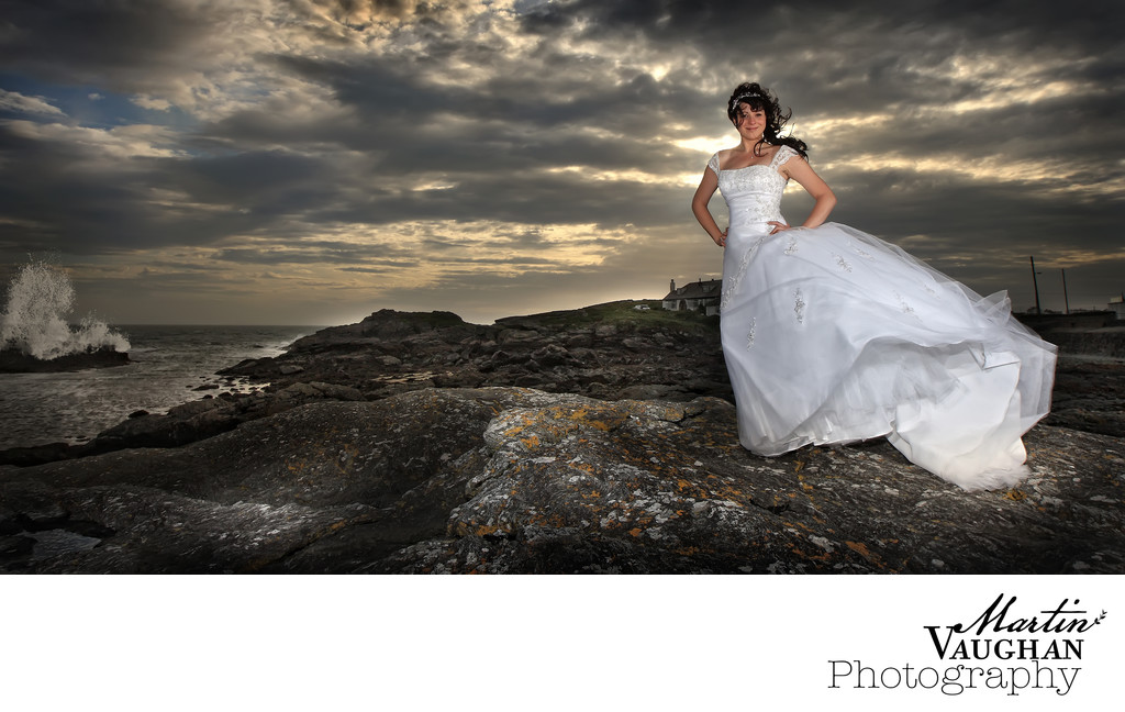 Treaddur Bay wedding photography Anglesey