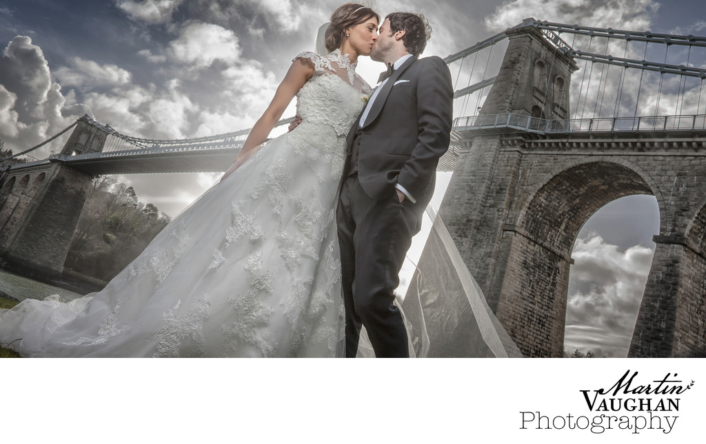 North Wales wedding photographs at Menai Bridge