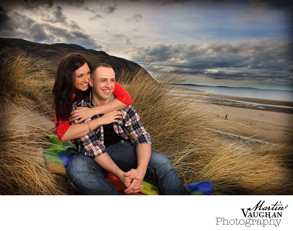 Scott and Jess engagement shoot Conwy Morfa
