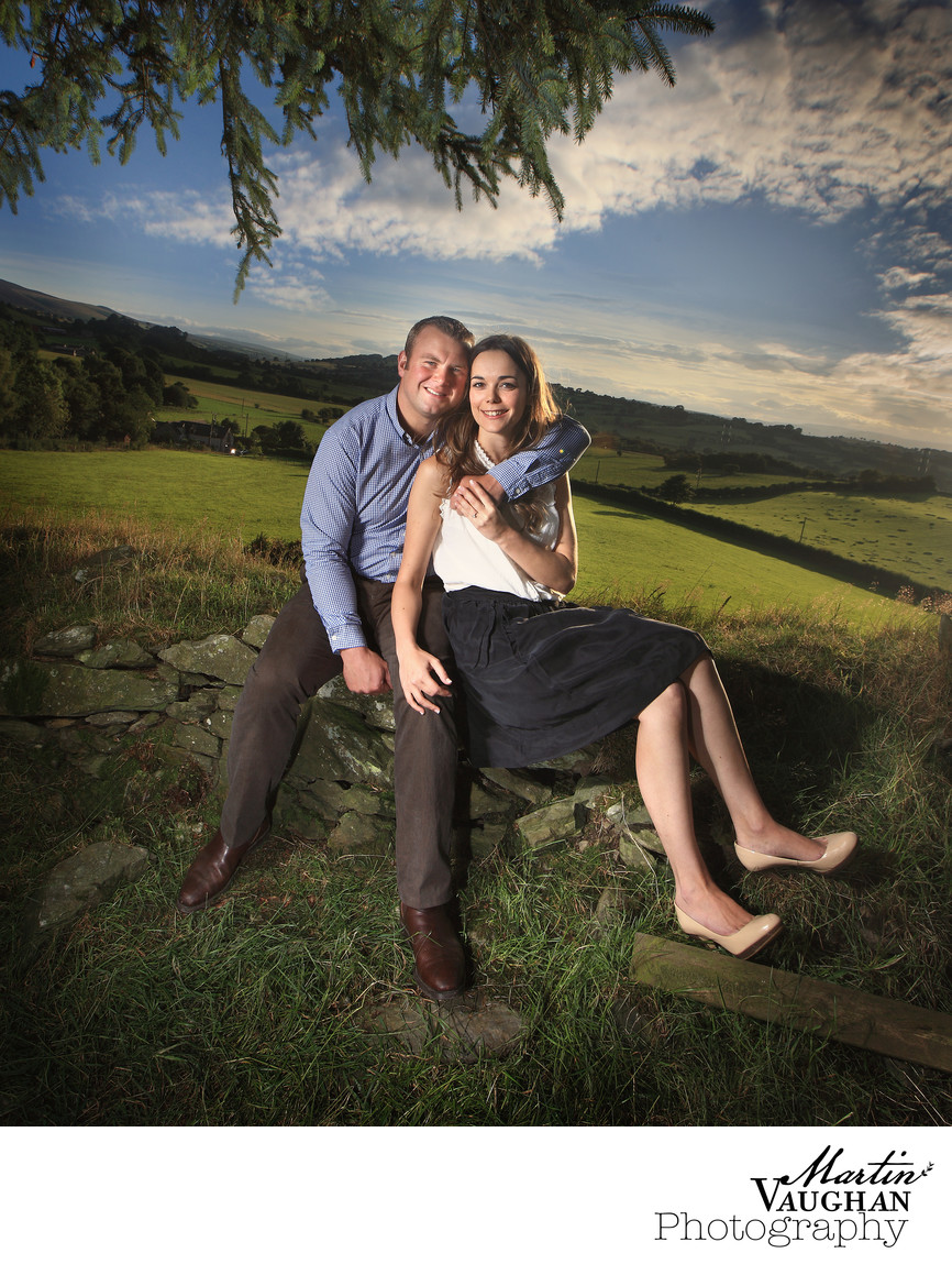 North wales engagement shoot Llandegla