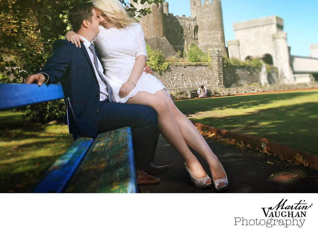 Conwy wedding photographer shoots romantic images
