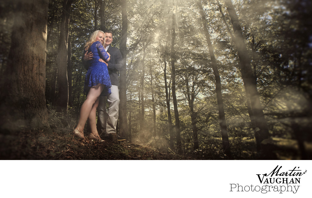 Disney influenced engagement shoot by Martin Vaughan
