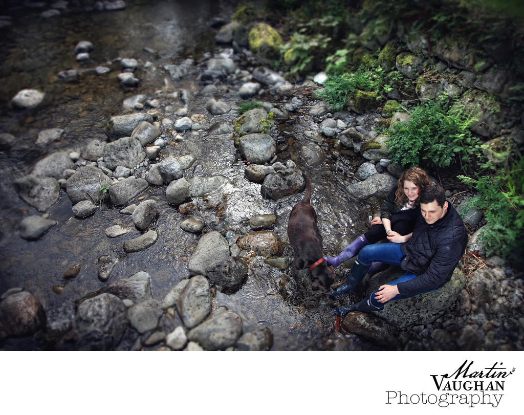 Top engagement photographer in north wales rowen