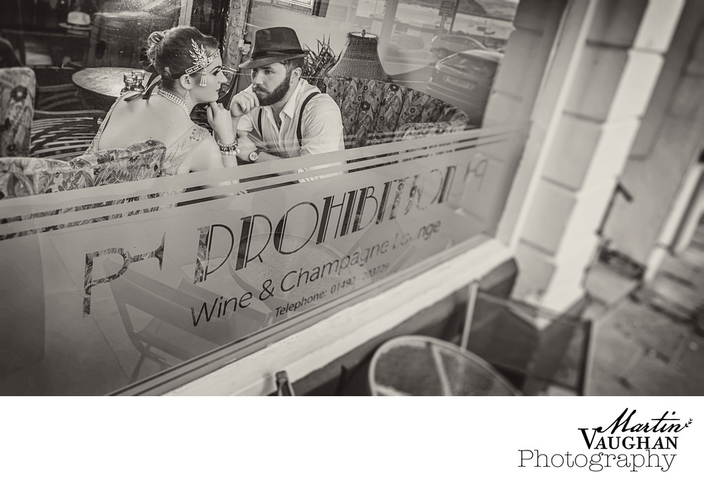 Wedding photographer shoots Great Gatsby in Conwy