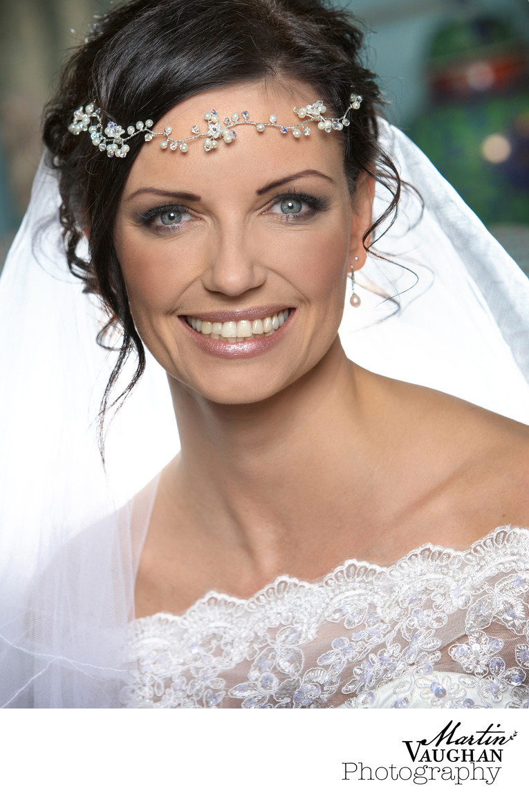 Wedding beauty shots of the bride Portmeirion