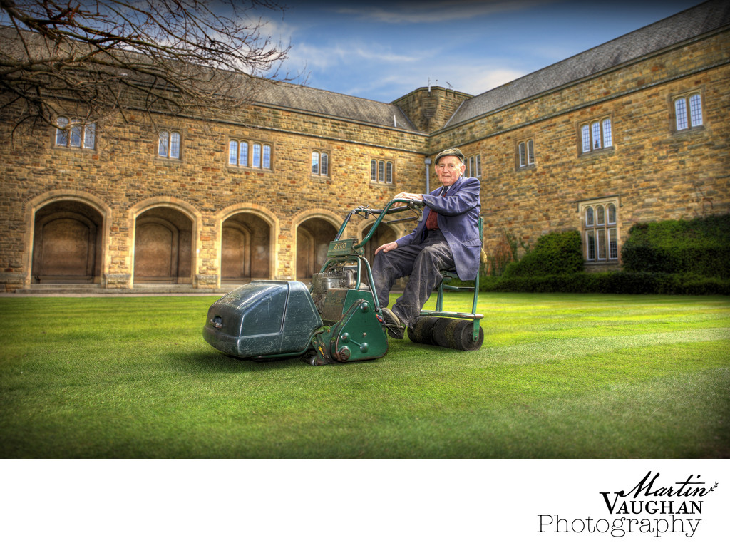 Rydal Penrhos School photos of John the groundsman
