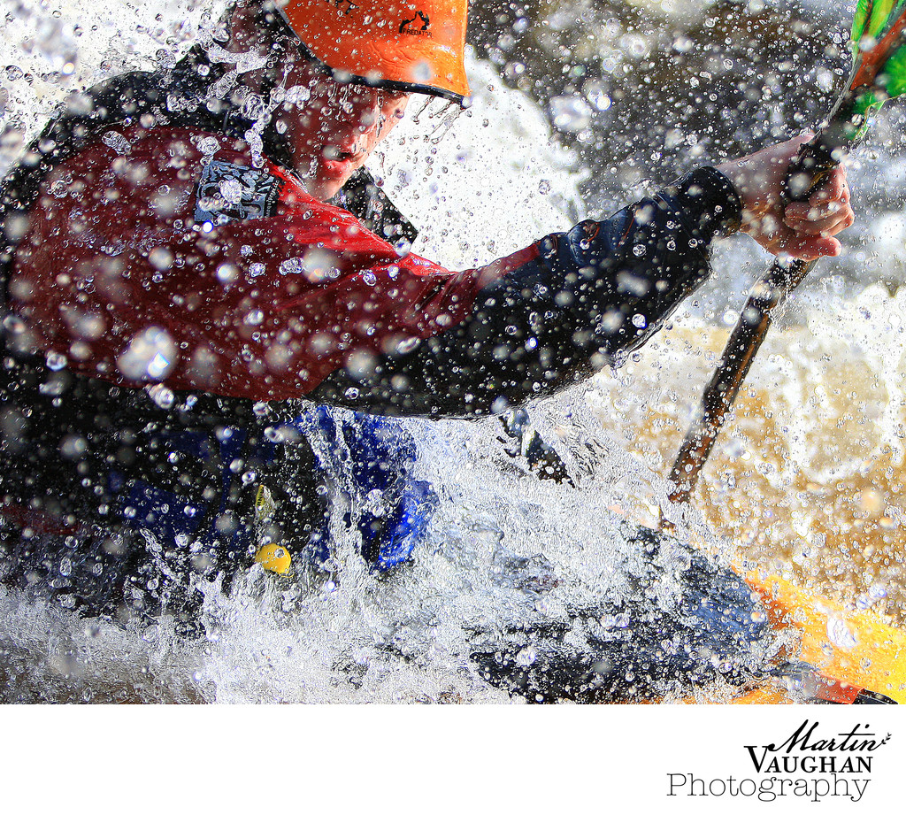 Rydal Penrhos School photos of white water kayaking