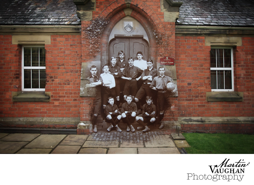 Commercial images for Oswestry School Shropshire montage