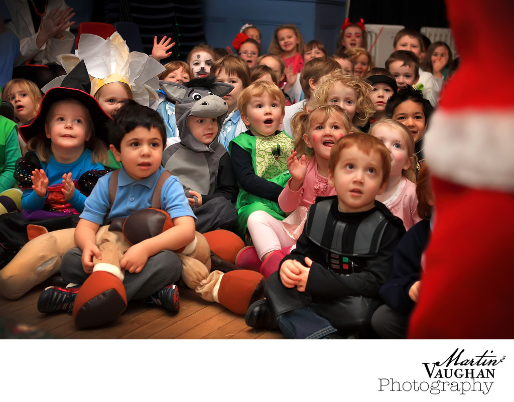 Rydal Penrhos School photos of santa's visit